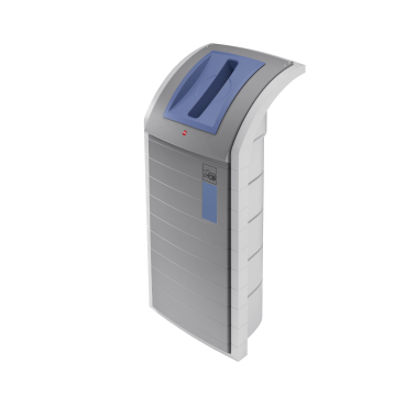 Hailo ProfiLine WSB-K plus Wertstoffbehälter, 120 l Farbe: Staubgrau, Einsatz: fernblau