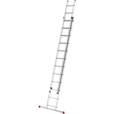 Hailo S80 ProfiStep duo Alu-Schiebeleiter, 2-teilig 2 x 12 Sprossen, max. Arbeitshöhe: 675 cm