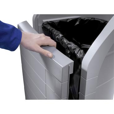 Hailo ProfiLine WSB-K plus Wertstoffbehälter, 120 l Farbe: Staubgrau, Einsatz: verkehrsgelb