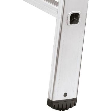 Hailo S60 ProfiStep uno Alu-Anlegeleiter 9 Sprossen, max. Arbeitshöhe: 350 cm