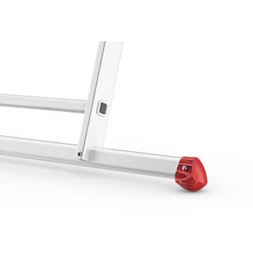 Hailo ProfiStep duo Alu-Seilzugleiter, 2-teilig 2 x 18 Sprossen, max. Arbeitshöhe: 950 cm
