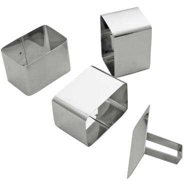 SCHNEIDER Schaumspeiseringe-Set, Rechteck abgerundet Höhe: 68 mm, 4-teilig (3 Formen + 1 Drücker)