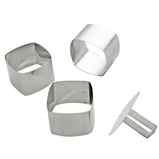 SCHNEIDER Schaumspeiseringe-Set, Quadrat abgerundet