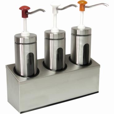 SCHNEIDER Druckknopf-Dosierspender, rund Maße: H 475 x B 440 x T 100 mm, Ø 100 mm, 3-fach, 2 l