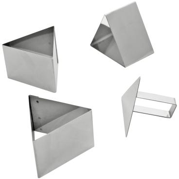 SCHNEIDER Schaumspeiseringe-Set, Dreieck Höhe: 55 mm, 4-teilig (3 Formen + 1 Drücker)