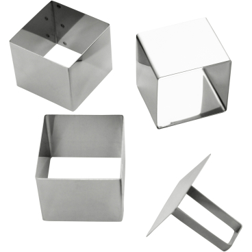 SCHNEIDER Schaumspeiseringe-Set, Quadrat Höhe: 55 mm, 4-teilig (3 Formen + 1 Drücker)