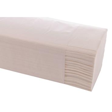 Papierhandtücher, 25 x 21 cm, 2-lagig, weiß 1 Karton = 4000 Blatt
