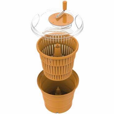 SCHNEIDER Salatschleuder, orange Höhe: 400 mm, Ø 420 mm, 20 l