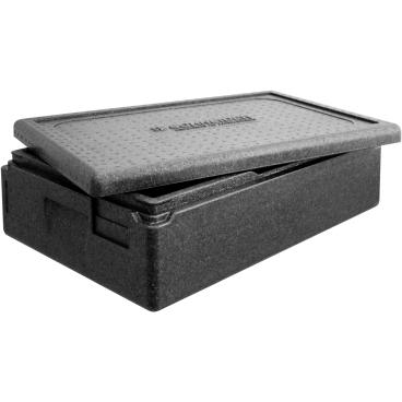 """SCHNEIDER ISOBOX """"Gastro"""" GN1/1 inkl. Deckel, schwarz Außenmaße: 600 x 400 x 180 mm, 21 l"""