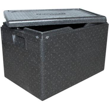 """SCHNEIDER ISOBOX """"Gastro"""" GN1/1 inkl. Deckel, schwarz Außenmaße: 600 x 400 x 337 mm, 61 l"""