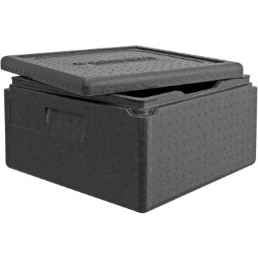 """SCHNEIDER ISOBOX """"Pizza"""" inkl. Deckel, schwarz Außenmaße: 410 x 410 x 240 mm, 21 l"""