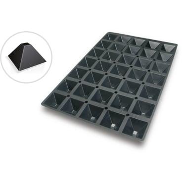 SCHNEIDER Silikon-Backform, Pyramide, schwarz Abmessung: 40 x 60 cm, Durchm. 65 x 65 mm, H 35 mm