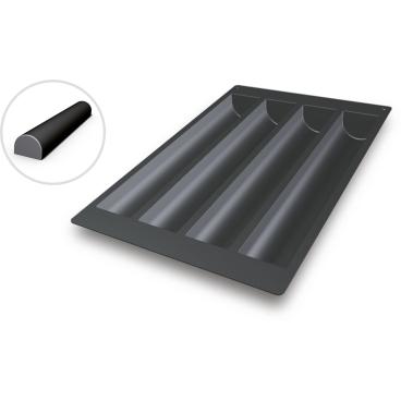 SCHNEIDER Silikon-Backform, Creme-Form, schwarz Abmessung: 40 x 60 cm, Durchmesser 510 x 80 mm, H 60 mm