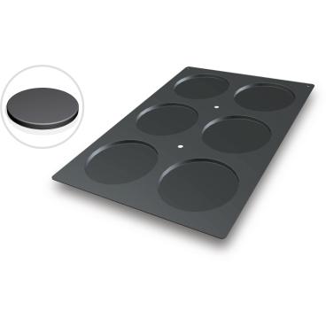 SCHNEIDER Silikon-Backform, Biskuit, schwarz Abmessung: 40 x 60 cm, Durchmesser 160 mm, H 10 mm