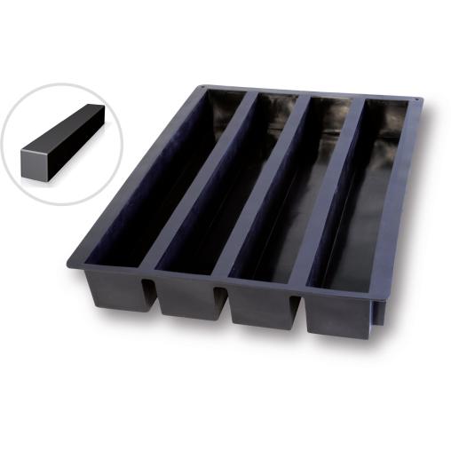 SCHNEIDER Silikon-Backform, Rinne, schwarz