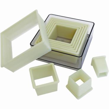 SCHNEIDER Ausstechersatz aus Nylon, Quadrat 9-teiliges Set, glatt