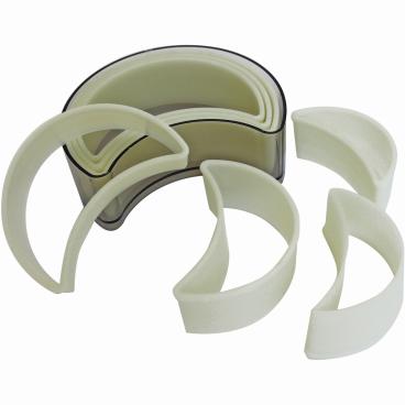 SCHNEIDER Ausstechersatz aus Nylon, Halbmond 7-teiliges Set, glatt