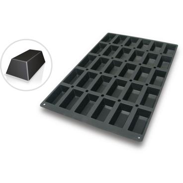 SCHNEIDER Silikon-Backform, Rechteck, schwarz Abmessung: 40 x 60 cm, Rechteck 100 x 52 mm, H 31 mm
