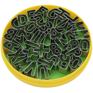 SCHNEIDER Dekor-Ausstecher aus Edelstahl, Buchstaben und Zahlen