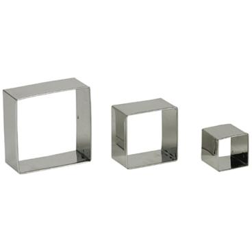 SCHNEIDER Garnierausstecher-Set, Edelstahl 3-teiliges Set, Quadrat