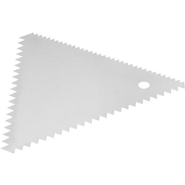SCHNEIDER Teig- und Dekorschaber Maße: 110 x 110 mm, Dreieck