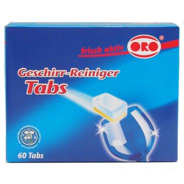 ORO®-frisch-aktiv Aktiv Tabs Geschirr-Reiniger 1 Packung = 60 x 18 g ohne wasserlösliche Folie