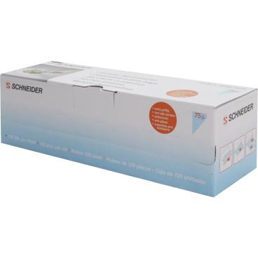 SCHNEIDER Einweg-Spritzbeutel, gerollt, blau 1 Box = 100 Stück, Abmessung: 530 x 275 mm