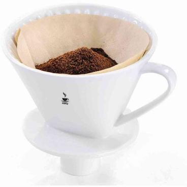 GEFU SANDRO Porzellan-Kaffee-Filter  Größe: 4, Durchmesser: 13,5 cm