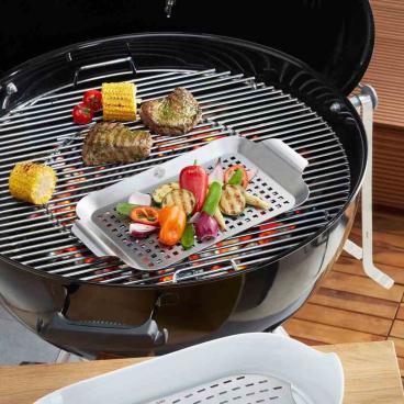 GEFU BBQ Grillpfanne Maße: 43 cm x 25 cm x 3 cm, groß