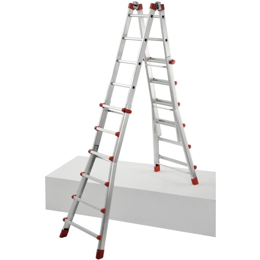 Stufen System f/ür verschiedene Kombinationen; 4/x 3/Sprossen Teleskop-Leiter