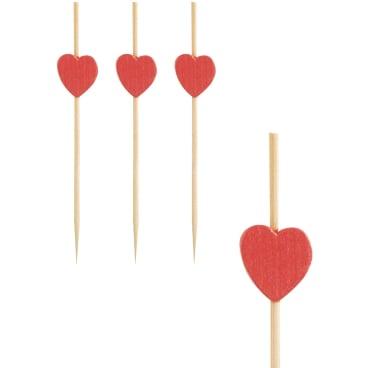 Papstar Heart Fingerfood-Spieße
