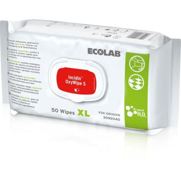 ECOLAB Incidin OxyWipe S XL Desinfektionstücher, 25 x 37 cm