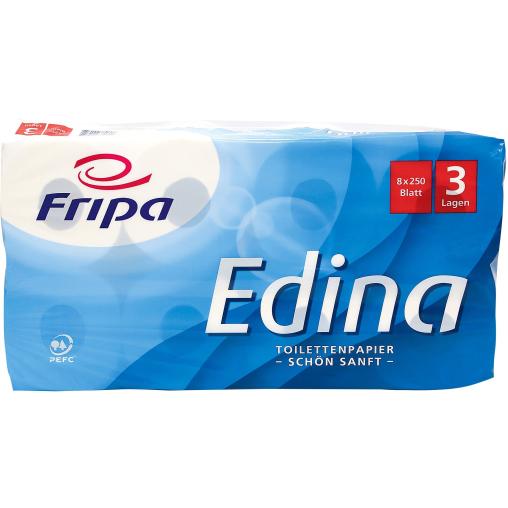 Fripa Edina Toilettenpapier, 3-lagig