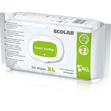 ECOLAB Incidin OxyWipe XL Desinfektionstücher, 25 x 37 cm
