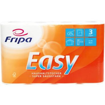 Fripa Easy Küchenrolle, 3-lagig 1 Packung = 4 Rollen à 45 Blatt