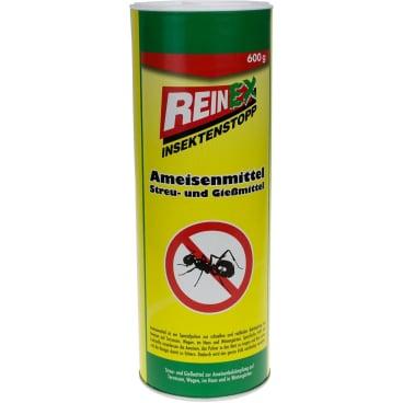 REINEX INSEKTENSTOPP Ameisenmittel Streu & Gießmittel  600 g - Dose