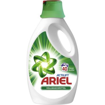 Ariel Flüssig Regulär Vollwaschmittel 2,2 l - Flasche für ca. 40 Waschladungen