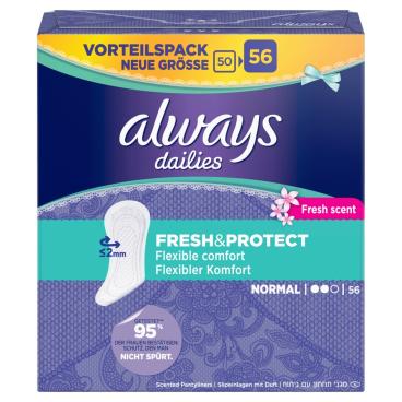 Always dailies Fresh & Protect Normal Slipeinlagen