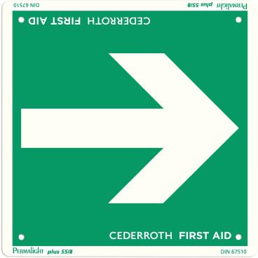 """Cederroth Hinweisschild """"Richtungspfeil"""" 20 x 20 cm"""