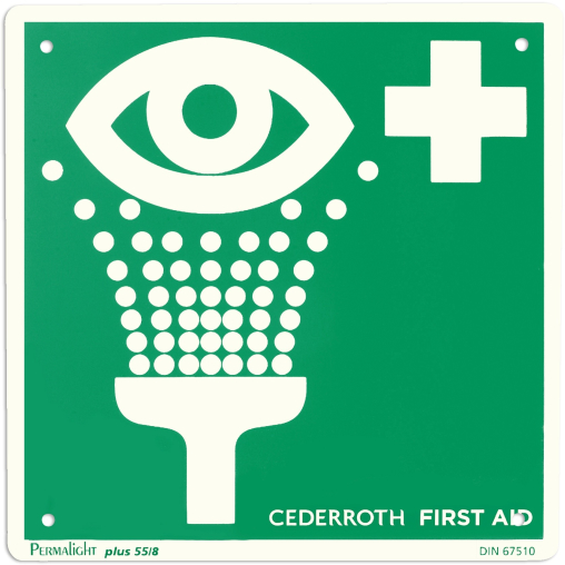 "Cederroth Hinweisschild ""Augendusche"" 20 x 20 cm"