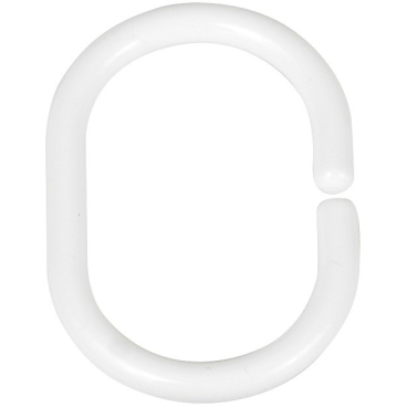 WENKO Duschvorhangringe, weiß, klein