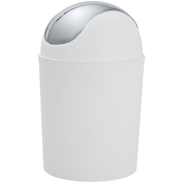 WENKO Vercelli Schwingdeckeleimer, 4,5 Liter