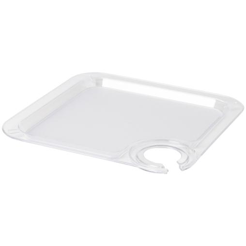 DUNI Partytablett mit Glashalterung, 20 x 20 cm, transparent