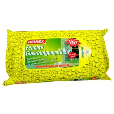 Reinex Feuchte Glasreinigungstücher 1 Packung = 30 Stück