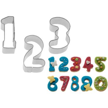 WESTMARK 0-9 Zahlen-Ausstechformen, 2,5 cm