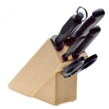 Giesser Messerblock, 5-teilig, aus Buche