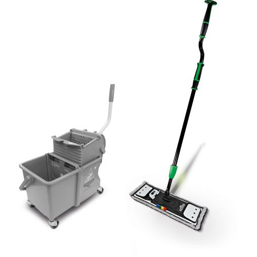 UNGER erGO! clean Flachmopp Bodenreinigungs-Set