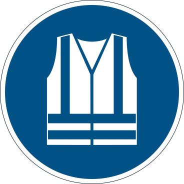 DURABLE Warnweste benutzen Sicherheitszeichen
