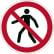 DURABLE Fußgängerweg verboten Sicherheitskennzeichen