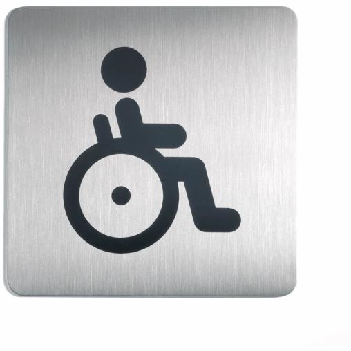 DURABLE Picto quadratisch WC Behindert Schild